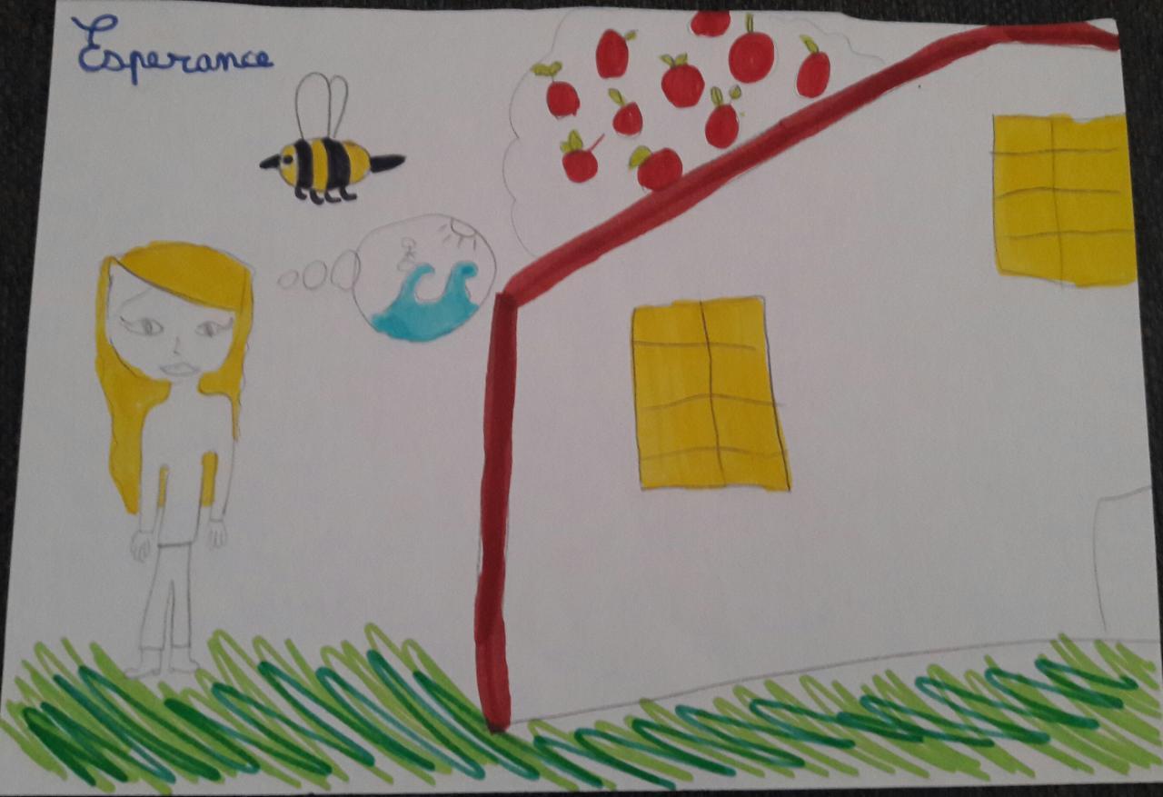 Conte sorcière - Espérance et son animal totem l'abeille