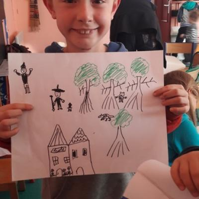 Conte basque  Makila - dessin centre de loisirs Ciboure